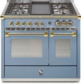 Steel Ascot 100 kaasuliesi kahdella sähköuunilla, sininen